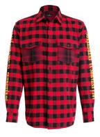 MARCELO BURLON Overshirt , Farbe: ROT/ SCHWARZ KARIERT (Bild 1)