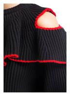 ALEXANDER McQUEEN Pullover, Farbe: SCHWARZ/ ROT (Bild 1)