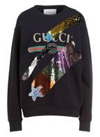 GUCCI Sweatshirt mit Paillettenbesatz , Farbe: SCHWARZ (Bild 1)