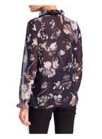 FREEQUENT Bluse, Farbe: DUNKELBLAU/ HELLGRAU/ TAUPE (Bild 1)