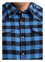 PAUL Flanellhemd Slim Fit, Farbe: BLAU/ SCHWARZ KARIERT (Bild 1)