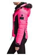 Superdry Skijacke LUXE SNOW PUFFER mit abnehmbarem Kunstpelzbesatz , Farbe: NEONPINK (Bild 1)