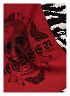 ALEXANDER McQUEEN Schal, Farbe: ROT/ SCHWARZ/ WEISS (Bild 1)