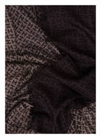 HEMISPHERE Cashmere-Schal , Farbe: DUNKELBRAUN/ HELLBRAUN (Bild 1)