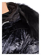 JET SET Daunenjacke HARPER mit Pelzkragen, Farbe: SCHWARZ (Bild 1)