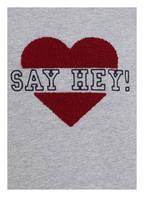 PLEASE Sweatshirt , Farbe: GRAU MELIERT (Bild 1)