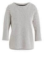 s.Oliver BLACK LABEL Shirt mit 3/4-Arm, Farbe: WEISS/ SCHWARZ (Bild 1)