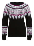 Mrs & HUGS Cashmere-Pullover, Farbe: SCHWARZ/ GRAU/ LILA (Bild 1)