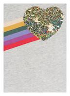 AO76 Sweatshirt mit Paillettenbesatz, Farbe: HELLGRAU MELIERT (Bild 1)