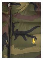POLO RALPH LAUREN Lightweight-Daunenjacke, Farbe: GRÜN/ DUNKELBRAUN/ BLAU (Bild 1)