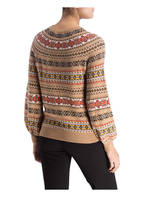 LAUREN RALPH LAUREN Pullover PHILANTHA, Farbe: CAMEL/ ROT/ CREME  (Bild 1)
