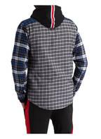 TOMMY HILFIGER Hemd Regular Fit mit Stehkragen, Farbe: BLAU/ GRAU/ SCHWARZ KARIERT (Bild 1)
