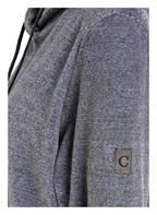 Cawö Damen-Oversized-Hoodie, Farbe: GRAU MELIERT (Bild 1)