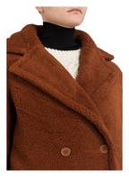 maje Teddyfell-Mantel GOURSON, Farbe: BRAUN (Bild 1)