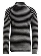 reima Funktionswäsche-Shirt TAVAST mit Merinowolle, Farbe: GRAU/ SCHWARZ GESTREIFT (Bild 1)