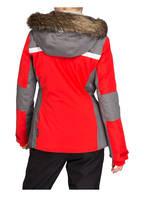 Schöffel Skijacke STRASBOURG mit abnehmbarem Kunstpelzbesatz, Farbe: ROT/ GRAU (Bild 1)