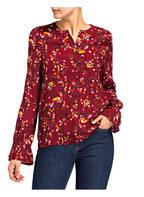TOMMY HILFIGER Bluse RIVA, Farbe: DUNKELROT GEMUSTERT (Bild 1)