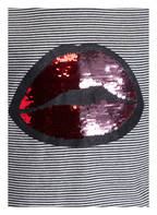 TOM TAILOR Longsleeve mit Paillettenbesatz, Farbe: SCHWARZ/ ECRU GESTREIFT (Bild 1)