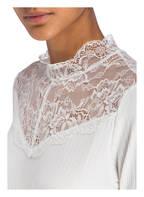 FREEQUENT Shirt mit Spitzeneinsatz, Farbe: WEISS (Bild 1)