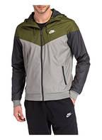 Nike Trainingsjacke WINDRUNNER, Farbe: OLIV/ DUNKELGRAU (Bild 1)