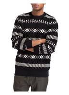 SELECTED Pullover in Strukturstrick, Farbe: SCHWARZ/ ECRU (Bild 1)