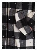 N°21 Oversized-Mantel , Farbe: SCHWARZ/ GRAU/ WEISS KARIERT (Bild 1)