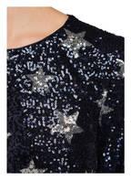 Young Couture by BARBARA SCHWARZER Paillettenkleid, Farbe: DUNKELBLAU/ SILBER (Bild 1)