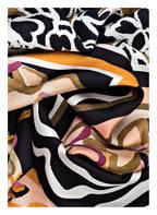 LUISA CERANO Seidentuch, Farbe: DUNKELBLAU/ ORANGE/ LILA (Bild 1)