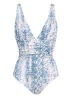 MELISSA ODABASH Badeanzug PANAREA, Farbe: WEISS/ BLAU (Bild 1)