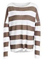 Juvia Sweatshirt, Farbe: KHAKI/ WEISS GESTREIFT (Bild 1)