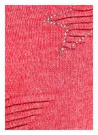 KEY LARGO Pullover mit Schmucksteinbesatz , Farbe: HELLROT MELIERT (Bild 1)