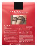 FALKE Halterlose Strümpfe MATT DELUXE 20 DEN, Farbe: 3009 BLACK (Bild 1)