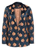 SCOTCH & SODA Jacquard-Blazer, Farbe: PETROL/ BEIGE/ DUNKELORANGE (Bild 1)