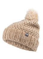Hot Stuff Mütze NAIDA mit Kunstpelzbommel, Farbe: BEIGE/ CREME MELIERT (Bild 1)