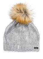Eisbär Mütze FOLINA LUX mit Kunstfellbommel, Farbe: HELLGRAU (Bild 1)