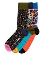 Happy Socks 3er-Pack Socken, Farbe: DUNKELBLAU/ ORANGE/ TÜRKIS (Bild 1)