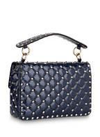 VALENTINO GARAVANI Lack-Handtasche ROCKSTUD SPIKE, Farbe: PURE BLUE (Bild 1)