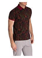 ETRO Piqué-Poloshirt, Farbe: DUNKELGRÜN/ DUNKELROT/ GRÜN (Bild 1)