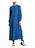 GANNI Seidenkleid, Farbe: BLAU (Bild 1)