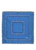 GANNI Seidentuch, Farbe: BLAU/ SCHWARZ (Bild 1)