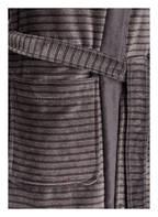 Cawö Damen-Bademantel, Farbe: DUNKELGRAU/ GRAU GESTREIFT (Bild 1)