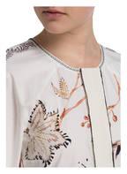 DOROTHEE SCHUMACHER Kleid mit 3/4-Arm, Farbe: WEISS/ BRAUN (Bild 1)