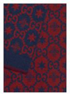 GUCCI Schal, Farbe: BLAU/ ROT (Bild 1)