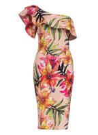 CHIARA BONI La Petite Robe One-Shoulder-Kleid ELISSE, Farbe: ROSA/ GRÜN/ GELB (Bild 1)