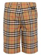 BURBERRY Shorts TRISTEN, Farbe: BEIGE/ ROT/ SCHWARZ (Bild 1)