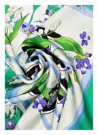 MARCCAIN Seidentuch, Farbe: 558 basil (Bild 1)