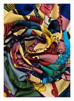 AIGNER Tuch mit Seidenanteil, Farbe: BLAU/ GELB/ HELLBLAU (Bild 1)
