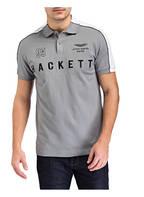HACKETT LONDON Piqué-Poloshirt, Farbe: GRAU/ WEISS (Bild 1)