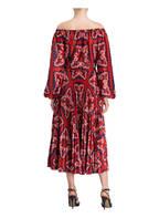VALENTINO Off-Shoulder-Kleid , Farbe: ROT/ DUNKELBLAU/ WEISS (Bild 1)