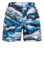 molo Badeshorts NIKO mit UV-Schutz 50+, Farbe: BLAU/ WEISS  (Bild 1)